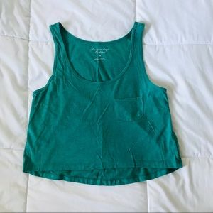 American Eagle Teal Crop Top Size Small